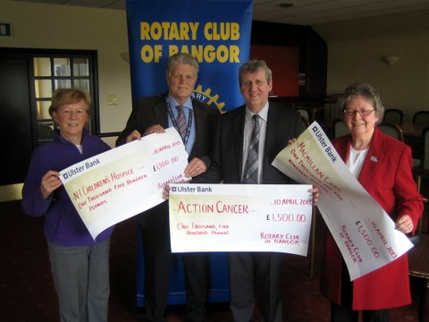 Rotary Charity Cheques Apr 2013