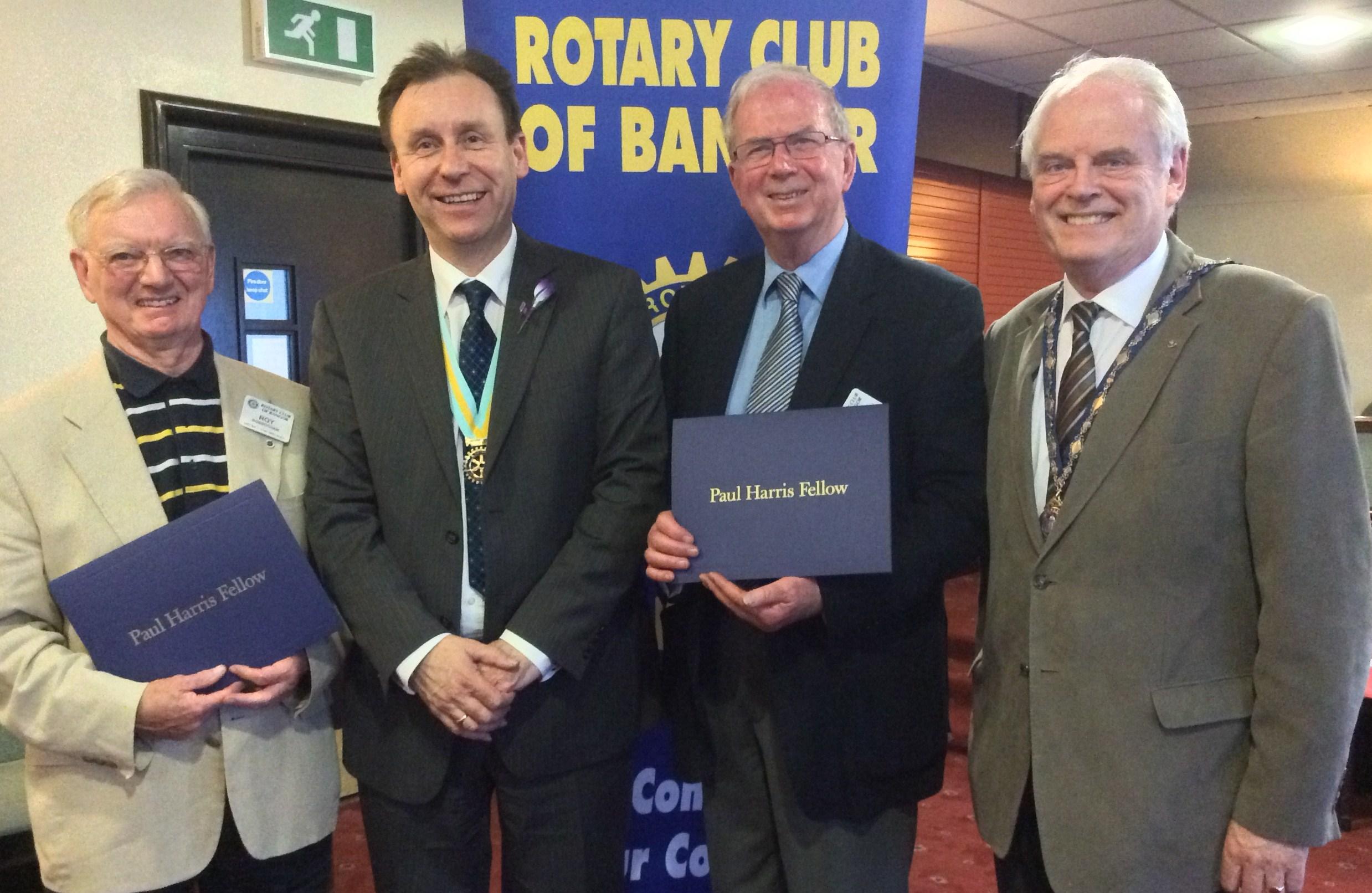 Roy Rosbotham, AG Garth Arnold, Stanley Smith and President Robin Mussen