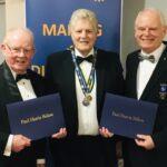 Two new Paul Harris Fellows for Bangor Rotary