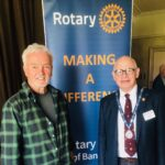 George Lowden strikes a chord at Bangor Rotary